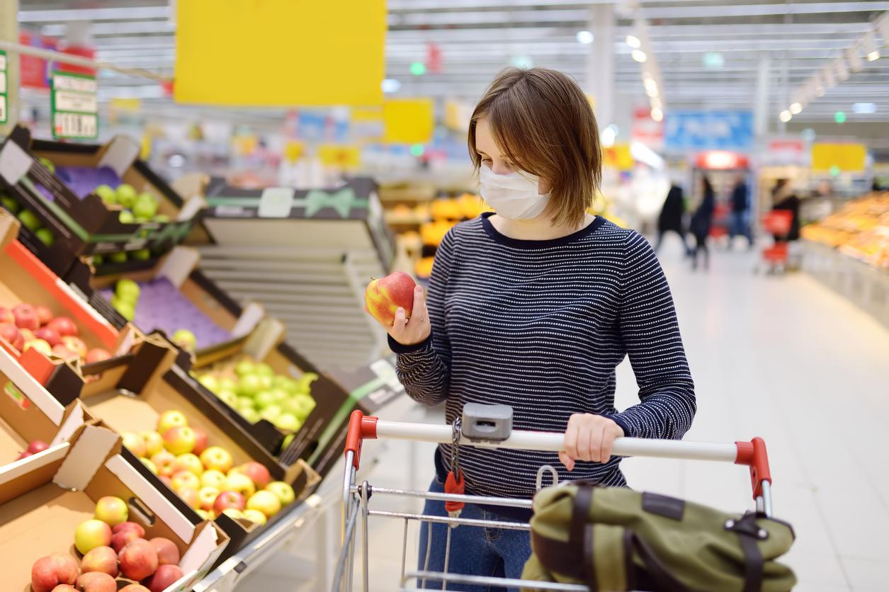 Grocery shopping during pandemic