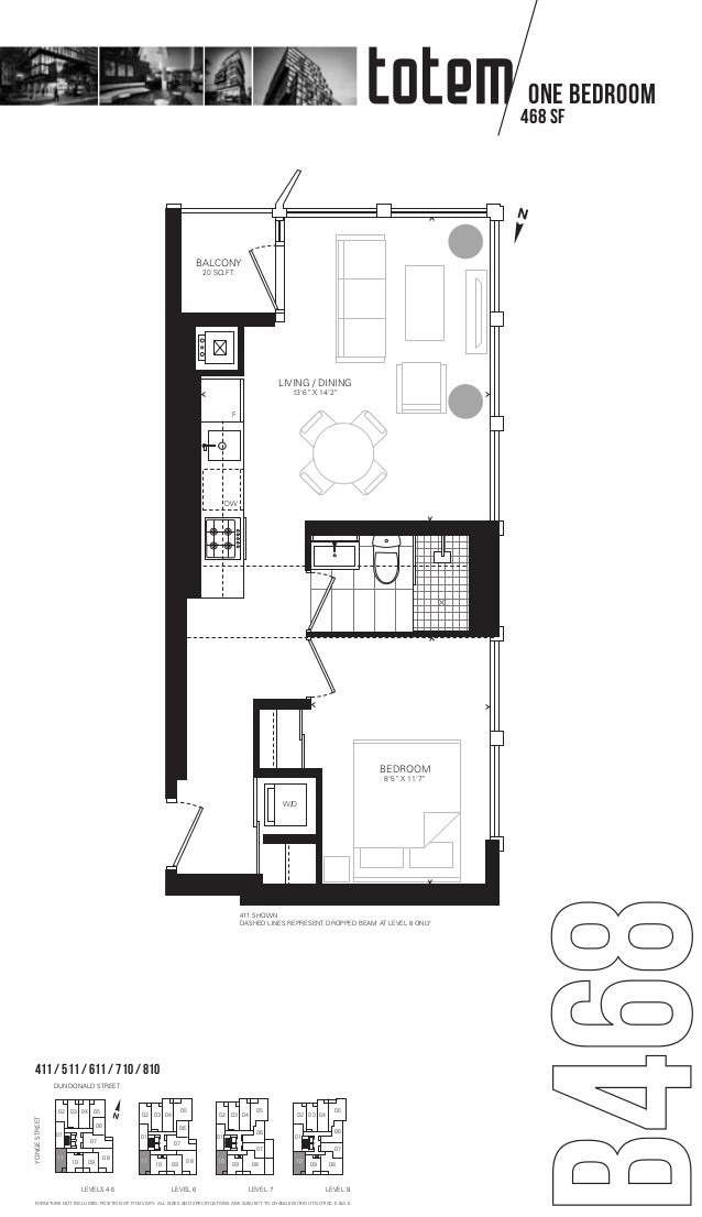 17 Dundonald St, unit 810 for rent in Toronto - image #2