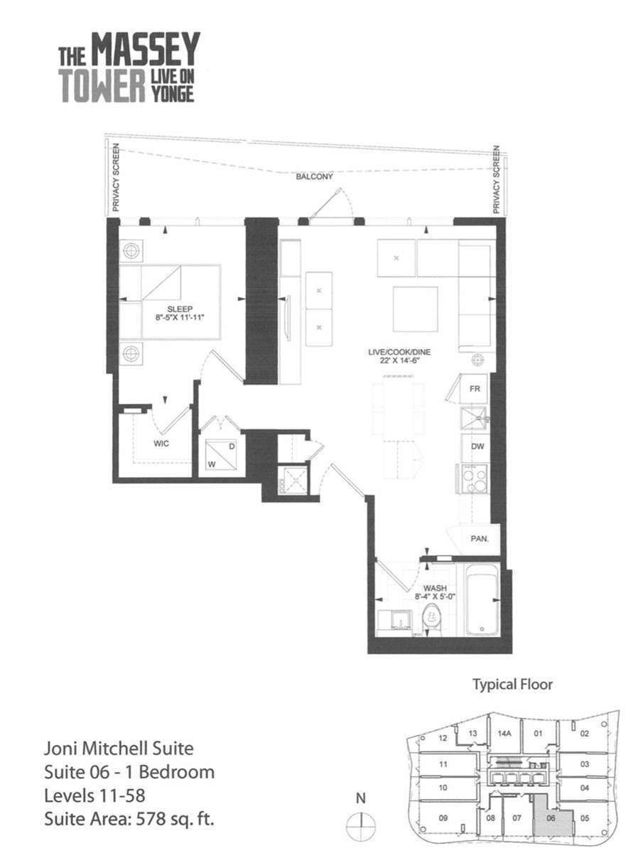 197 Yonge St, unit 3306 for rent in Toronto - image #2